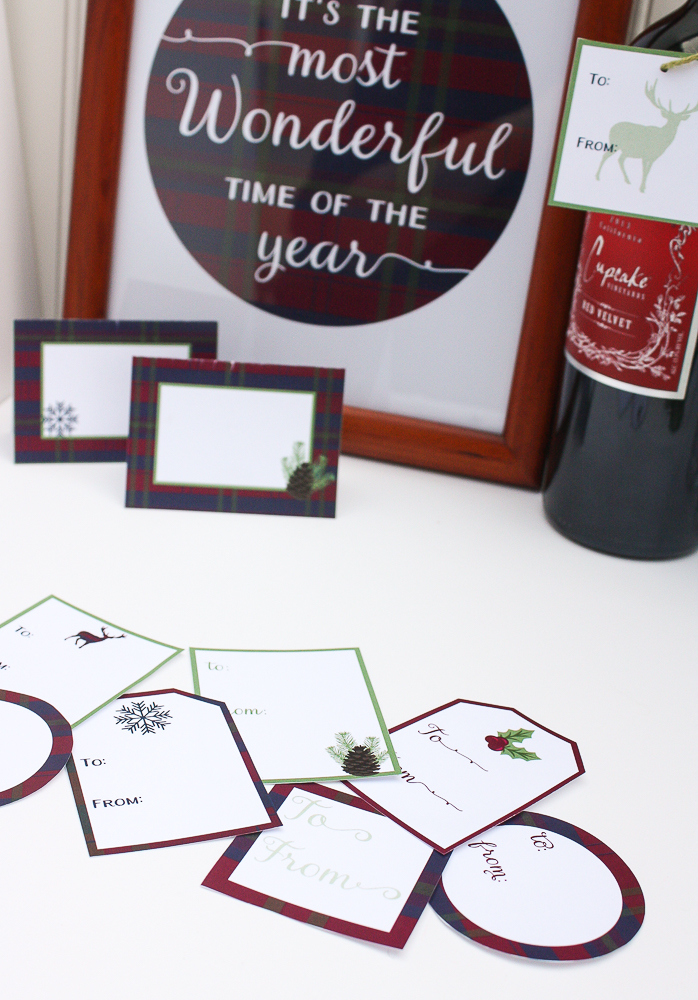 Free Printable Holiday Gift Tags - Enchanted Type