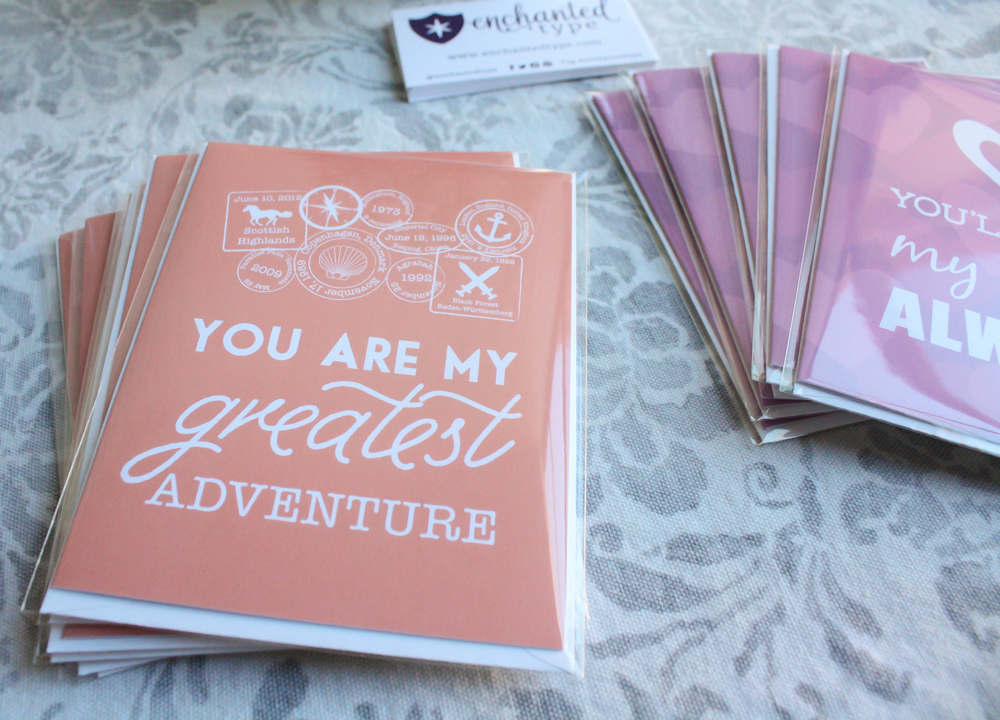 Valentine's Cards for Disney Lovers - Enchanted Type
