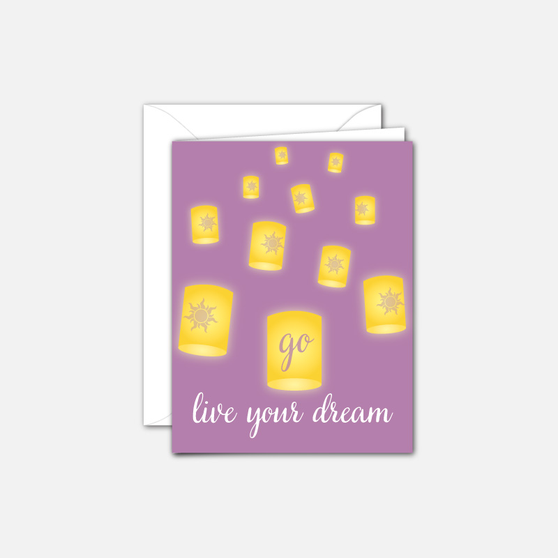 Go Live your Dream - grad card