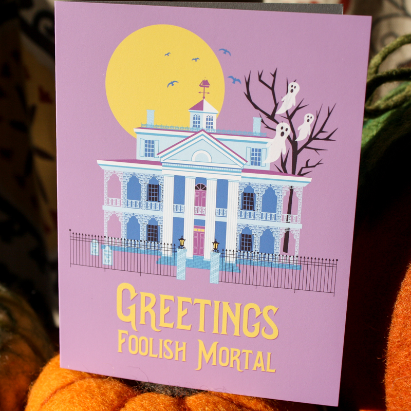 Greetings foolish mortal Haunted Mansion greeting card