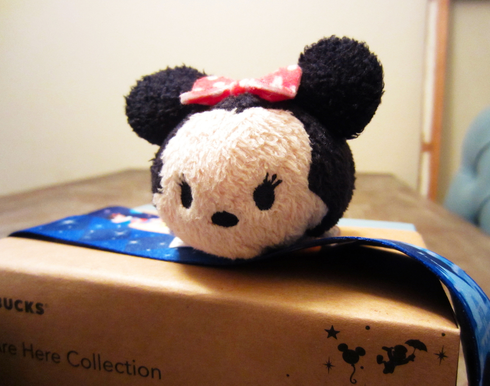 My first Tsum Tsum, Minnie Mouse! I can't wait to grow my collection.