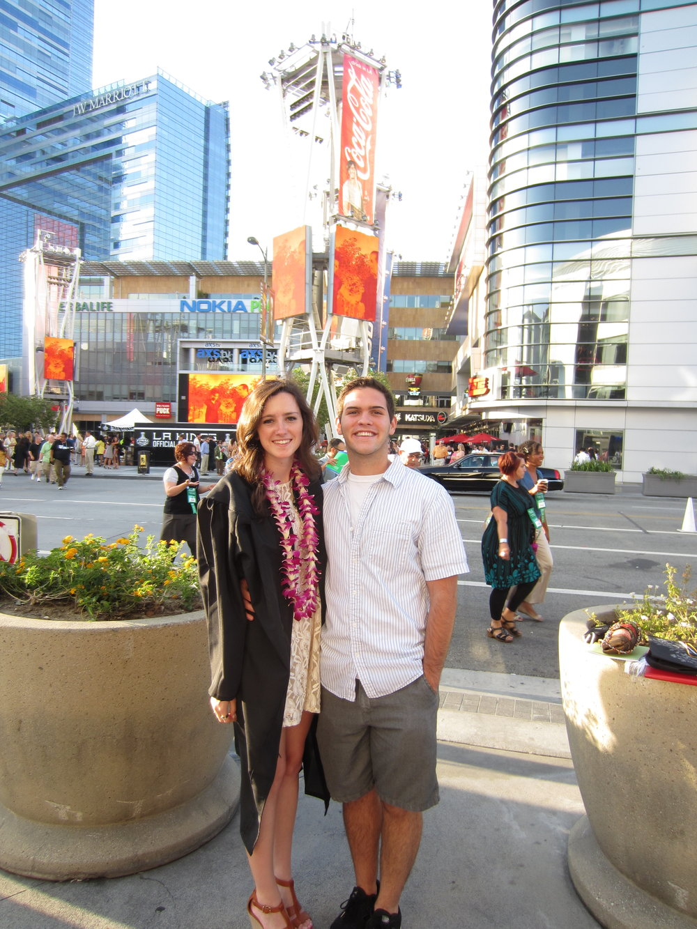 Freddy and I at my graduation from FIDM in Downtown LA in June 2012! We look so young ;)