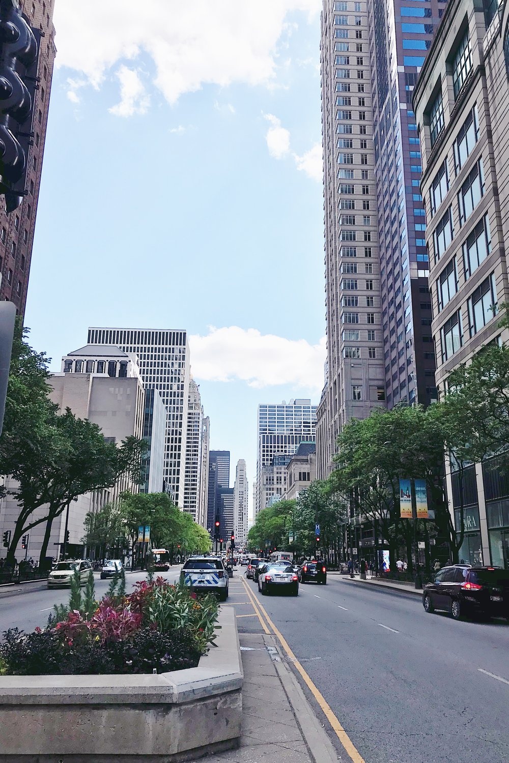 A view down Michigan Avenue.