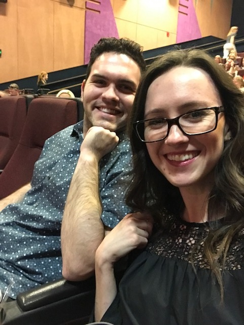 Seeing a movie premier the same day I got a promotion last August. I think all we can really do is smile through the change, no matter how scary it may be. We'll be okay and become stronger through it all!