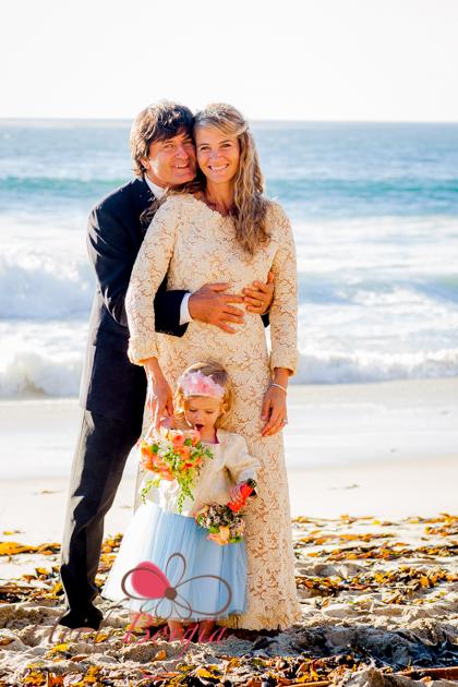 Pavel & Siobhan Gazur with daughter Vendela. Garrapata Beach, Big Sur. |  Photo by Heidi Borgia Photography, Carmel By The Sea, California.