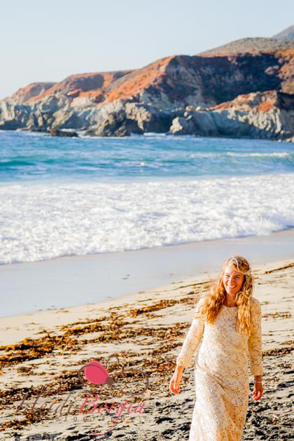 Siobhan Gazur @ Garrapata Beach in Big Sur.