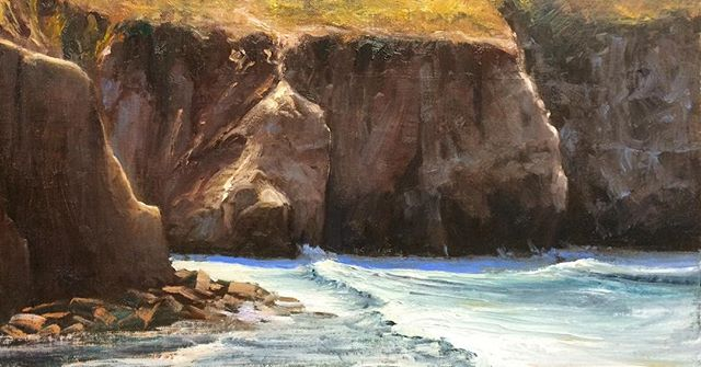 La Jolla Caves, Oil on Linen.