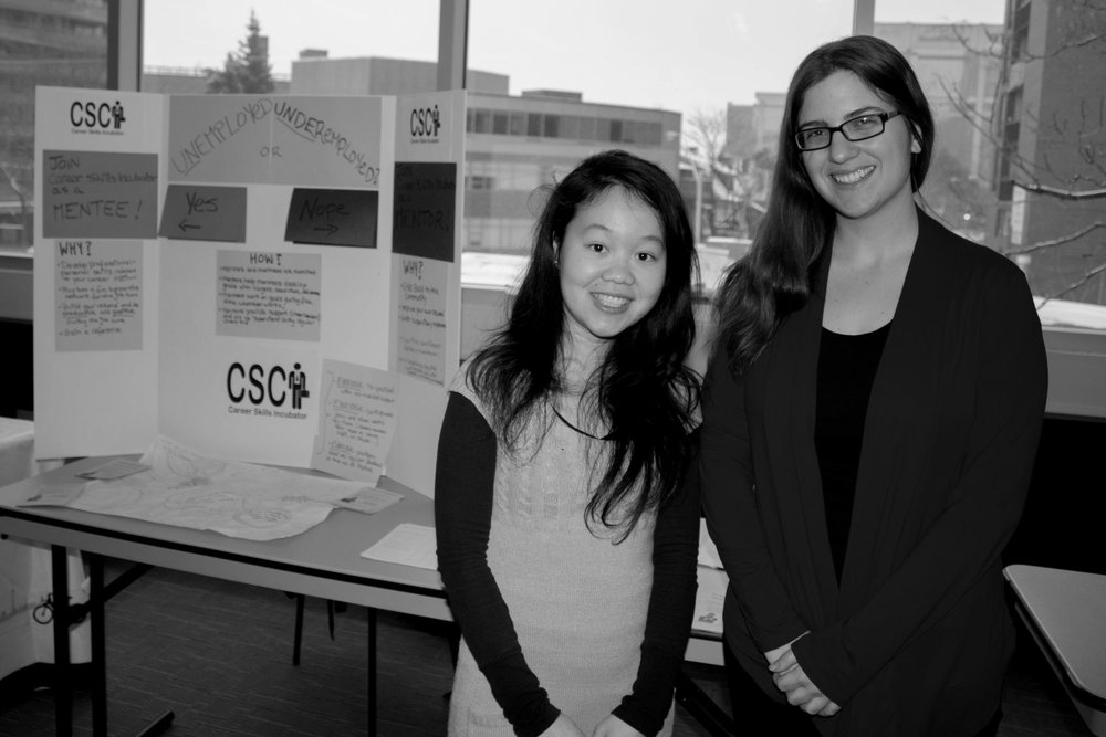 victoria (right) and our chief happiness officer, liz, representing csci at a community event in 2013