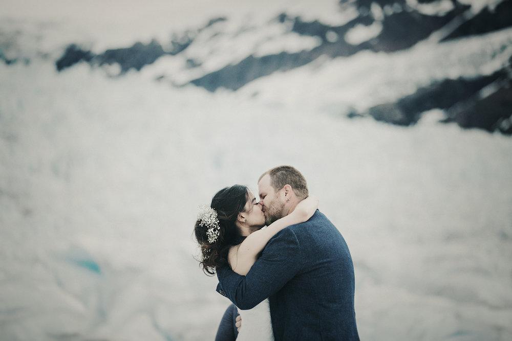 Glacier Elopement - Alaska Destination Weddings