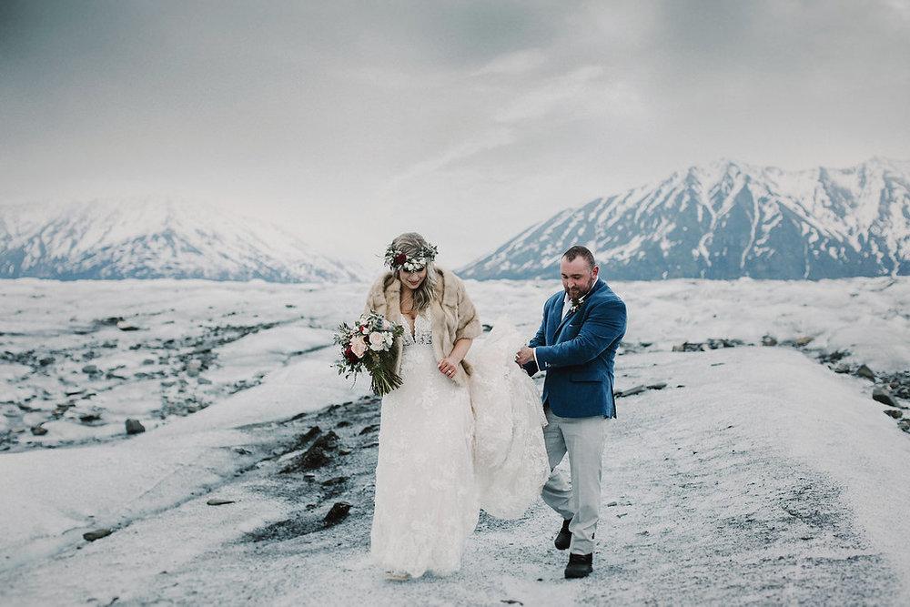 Alaska Destination Weddings - Glacier Elopement