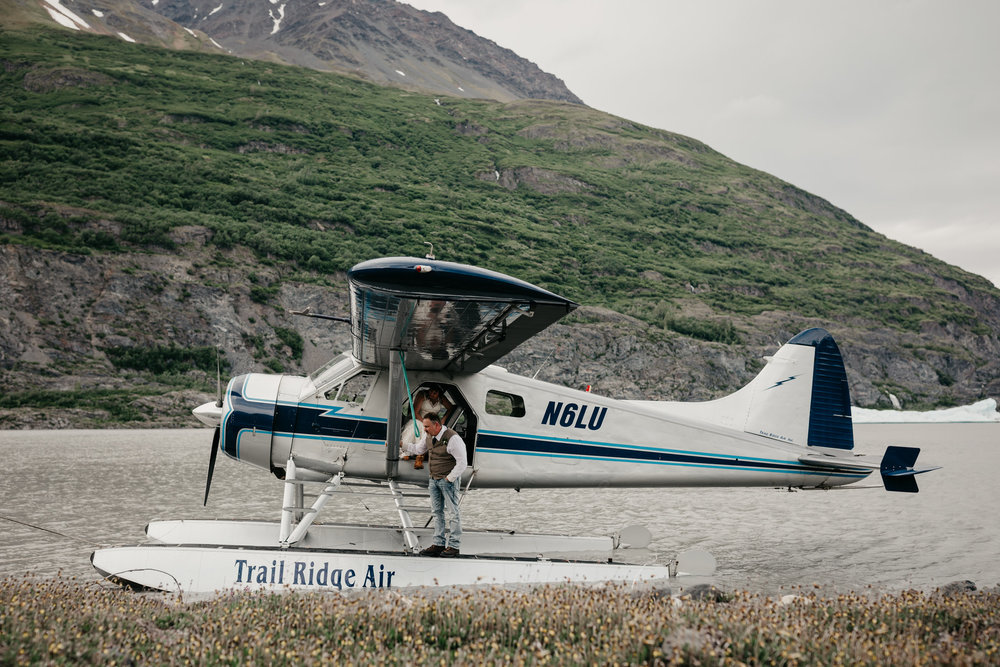 Float Plane Glacier Elopement - Alaska Destination Weddings