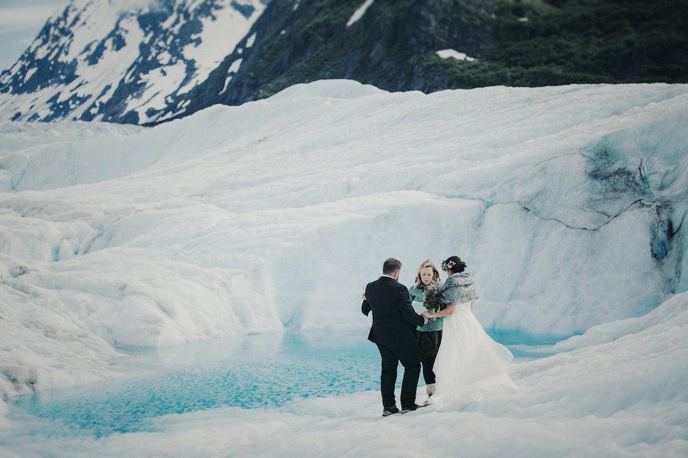 Elope to Alaska - Alaska Destination Weddings Glacier Elopement Package