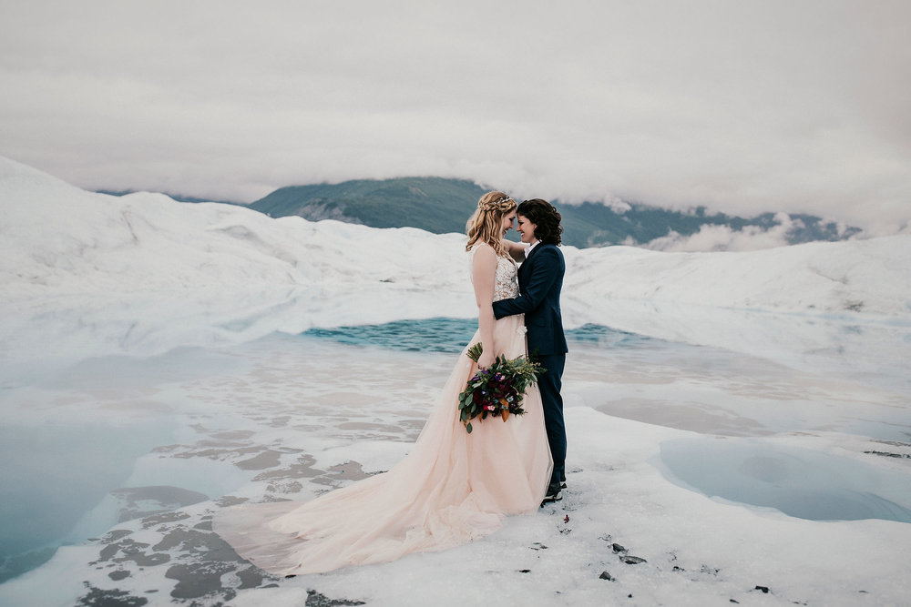 Elope to Alaska - Alaska Glacier Wedding - Alaska Destination Weddings