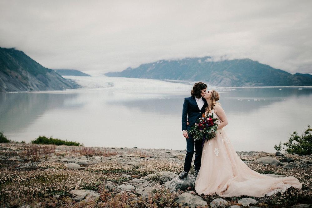 Alaska Glacier Wedding with Alaska Destination Weddings - Elope to Alaska