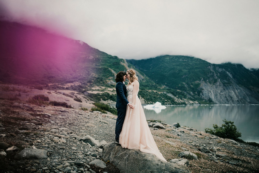Alaska Glacier Wedding with Alaska Destination Weddings - Elope to Alaska