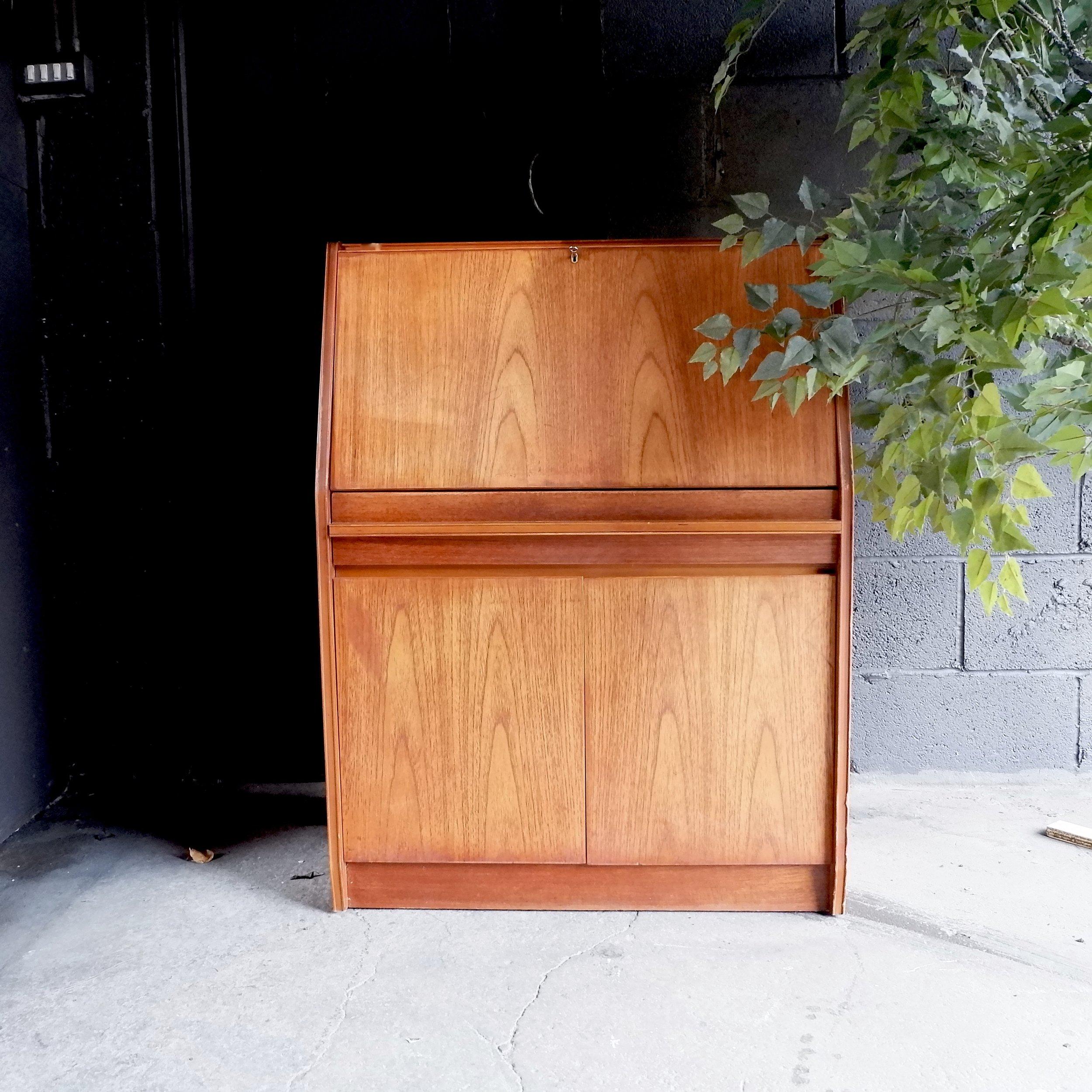 Bureau Retro Design.Retro Vintage Mid Century Bureau Storage Desk Unit Almeida Interior