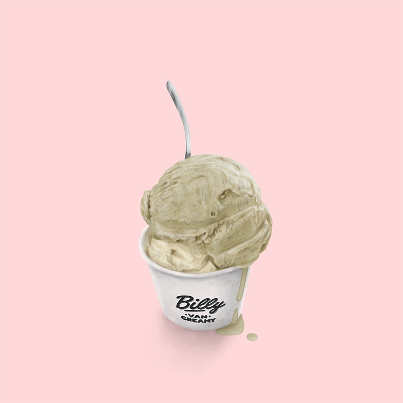 Pistachio & Macadamia ice-cream cup from Melbourne's Billy Van Creamy