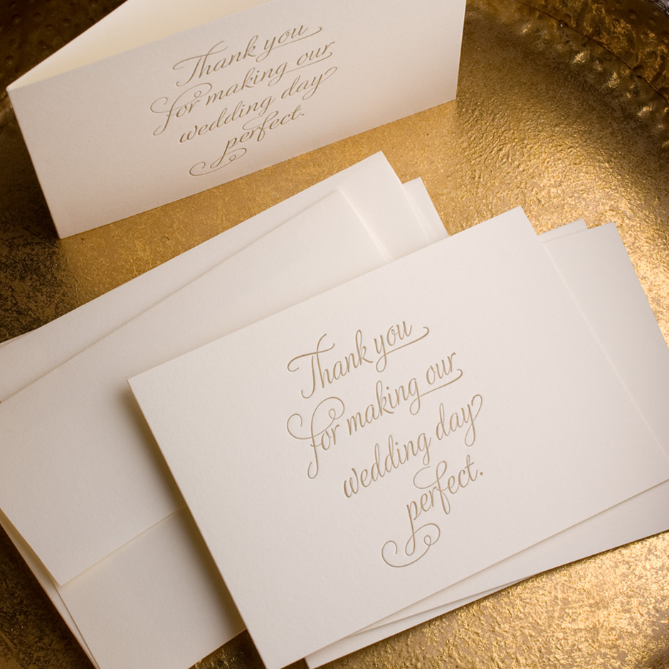 folded thank you cards the cardlab letterpress co