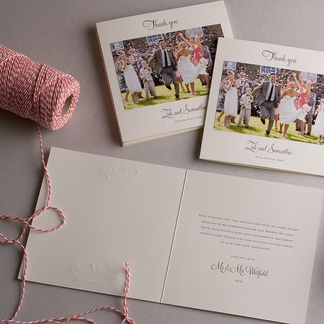 Send your guests a special thank you with photo thank you cards #thankyoucards #photothankyoucard #weddingstationery