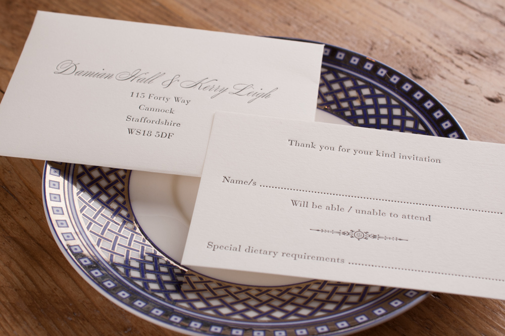 RSVP Cards - Encourage a swift response and include acceptance cards with pre-addressed return envelopes for your guests.