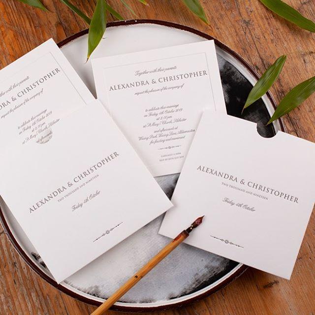 Introducing the new Ava style invitation. Pure cotton card with elegant plate sunk border 💕💕 https://www.cardlabletterpress.com/ava-invitation-introduction #weddinginspiration #weddinginvitations #weddinginvites #letterpressinvitations #cardlabletterpress