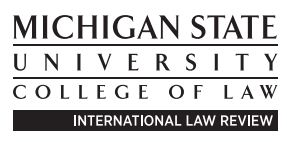 MSU Internatonal Law Review