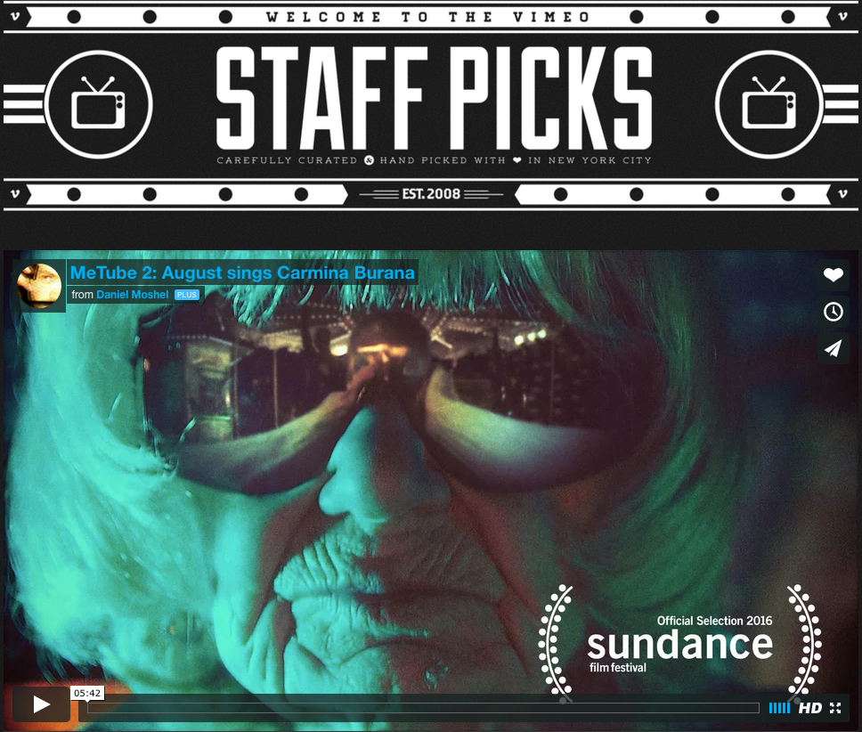 staff pick on vimeo = not so shabby elfie....