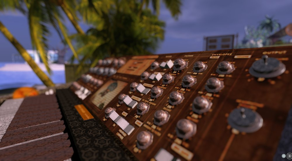 a moog synth made of prims in second life by nnoiz papp