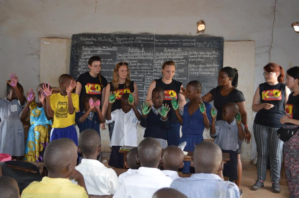 Running vital health promotion sessions with children in Kampala's slum communities
