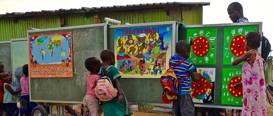 Example of a mobile school being used – from https://www.mobileschool.org