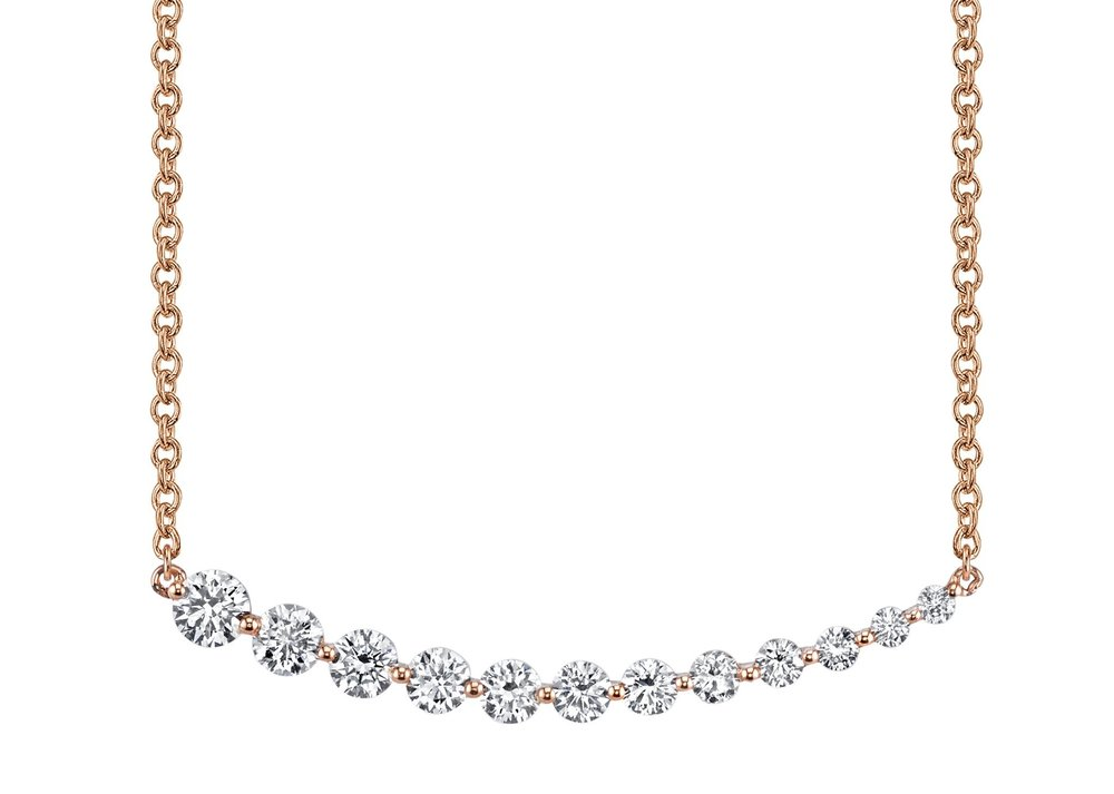 Diamond and Gold necklace   A beautiful diamond and gold necklace courtesy of Roberts Jewellers. Value: £350