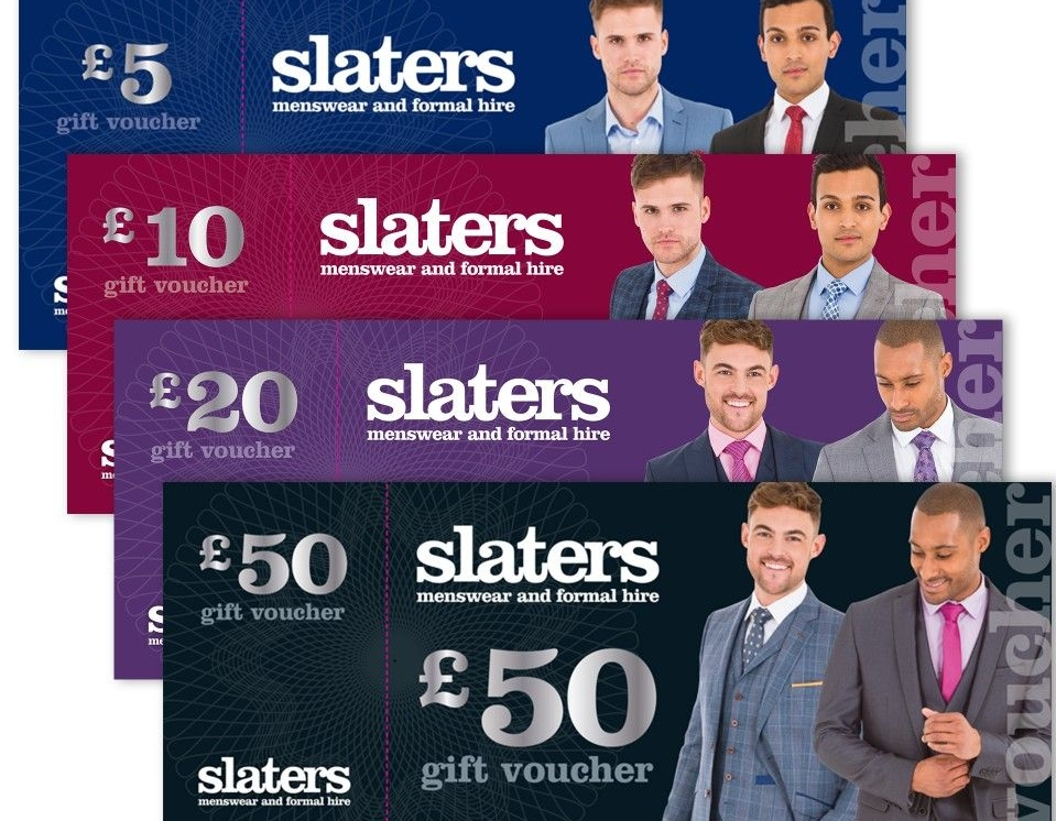 *STAR RAFFLE PRIZE*    Slater's Suit Vouchers  worth £100