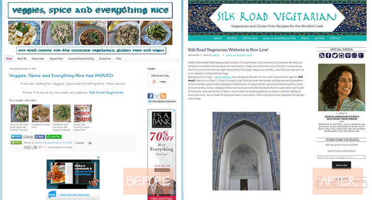 Silk Road Vegetarian Before & After