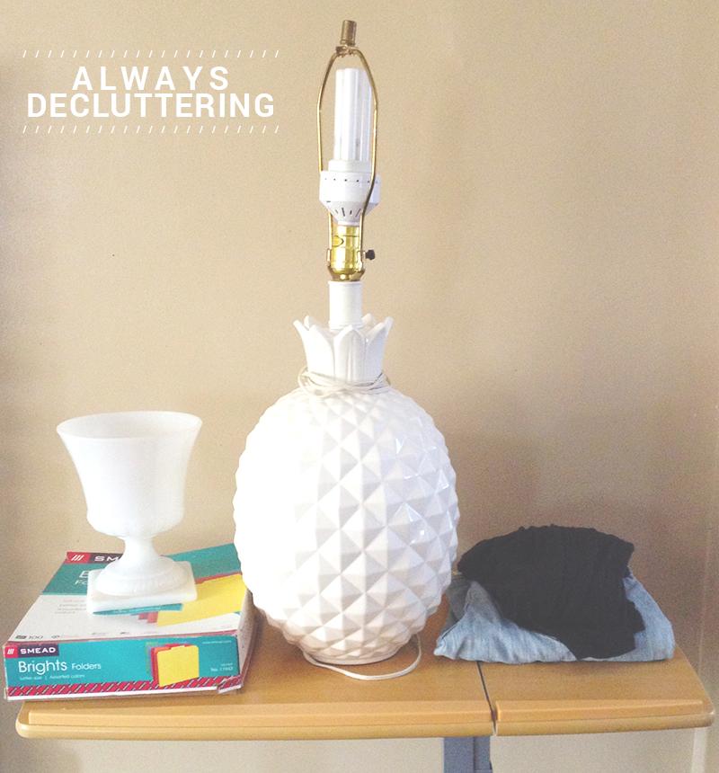 always-decluttering