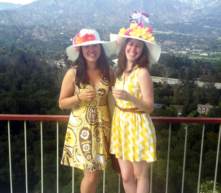 My friend, Kim, & I at a fancy Kentucky Derby party a few weekends ago. Ridiculous hats were the best part.