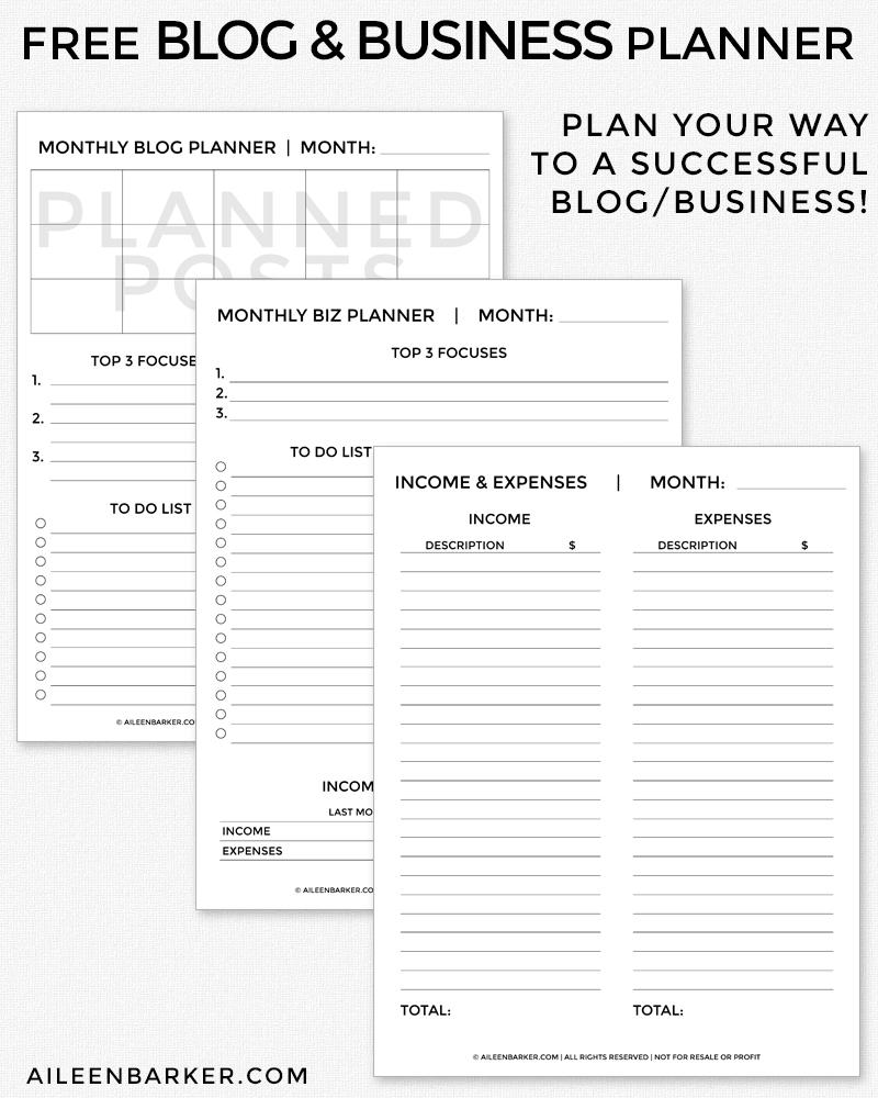 free-blog-biz-planner-printable