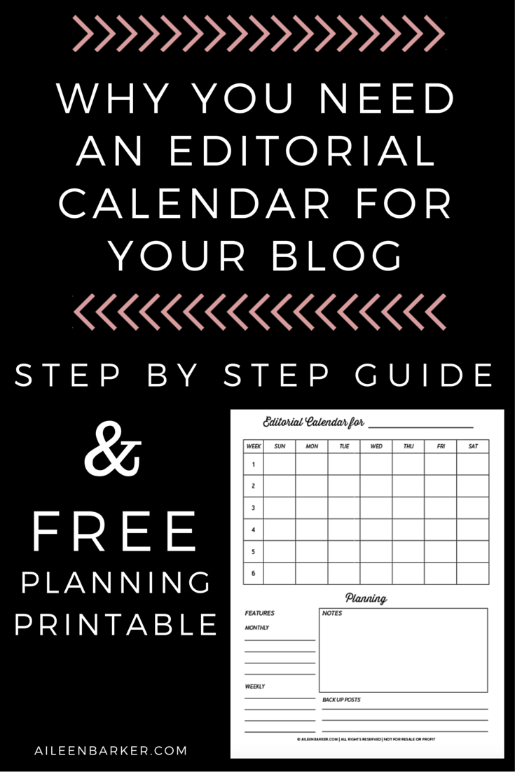 why you need an editorial calendar for your blog how to guide and free planning printable