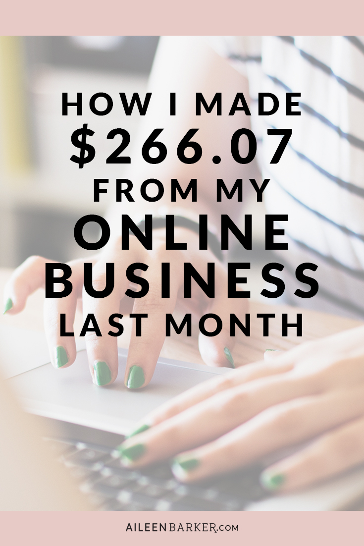 How I Made $266.07 from my Online Business and Blog in February 2016! Income report for bloggers, business owners and entrepreneurs.