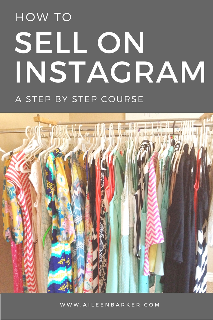 How to Sell on Instagram - A step by step course walking you through everything from setting up your account, what to put in your profile, what to include in your posts, how to price, how to ship and more.