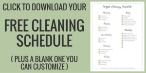 Opt In Image - Cleaning Schedule