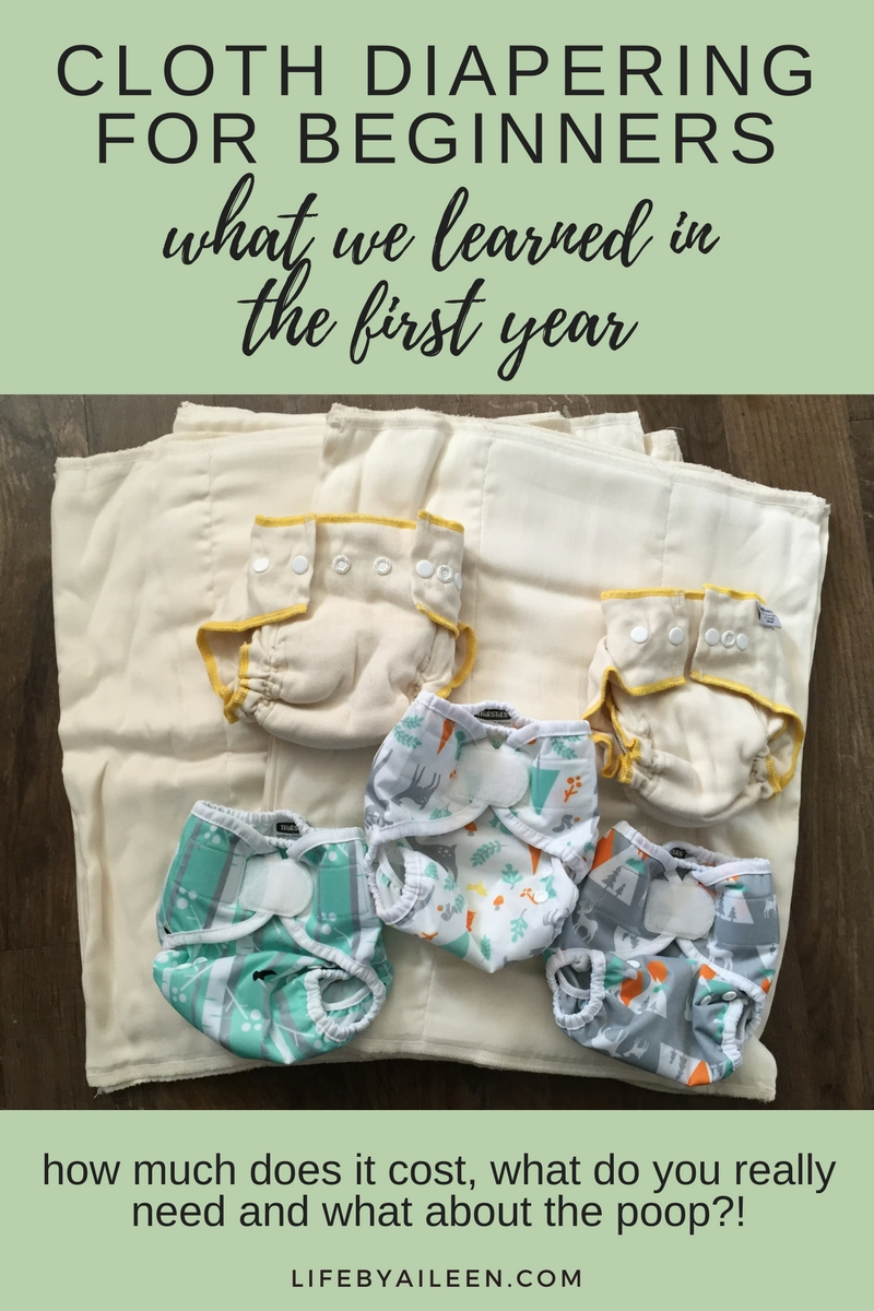 Cloth diapering for beginners - what we learned in our first year. How to start, what it costs, what you need and what to do about the poop.