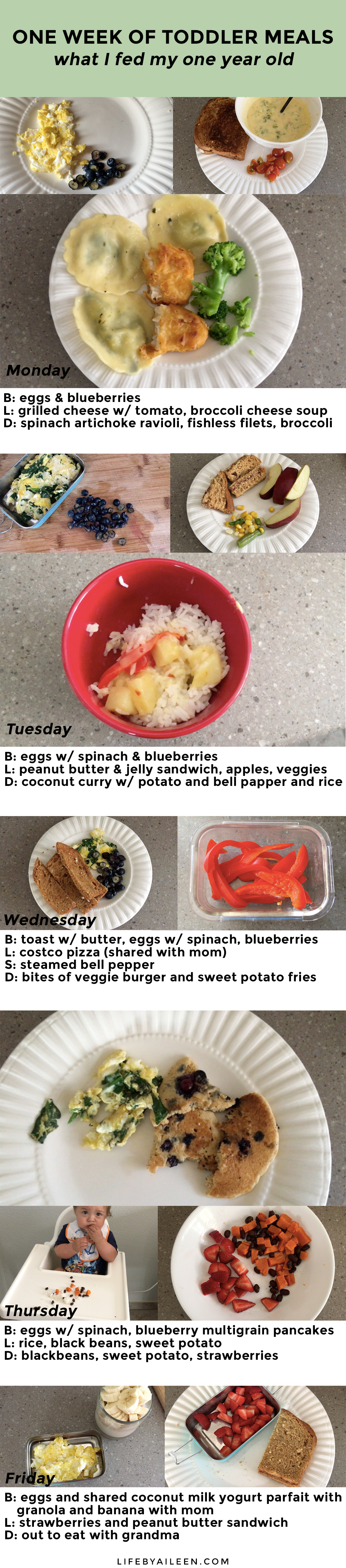 What i fed my 1 year old toddler in a week aileen barker ps if you want to know what i ate along with what i fed my son check out the video at the bottom of the post where i included my meals too forumfinder Choice Image