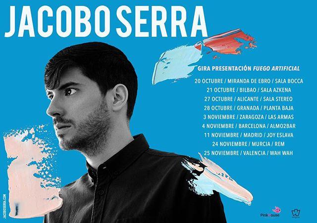 Súper contento de poder anunciar las primeras fechas de la gira presentación de FUEGO ARTIFICIAL!  Las entradas ya están disponibles en mi web (link en bio)  Primeras ciudades confirmadas: MIRANDA DE EBRO, BILBAO, ALICANTE, GRANADA, ZARAGOZA, BARCELONA, MADRID, MURCIA Y VALENCIA. Qué ganas de empezar a tocar de nuevo y de que escuchéis las nuevas canciones!!! Aquí el nuevo lyric de 'El activista', el primer adelanto, que se estrenó el viernes: https://youtu.be/d80aThoXNF8  Gracias