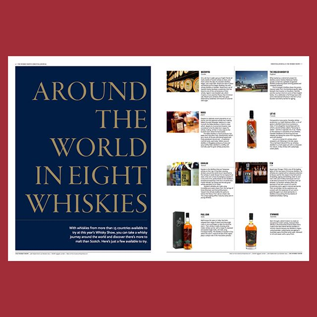 "Around the world in eight whiskies and The Insider's View, ""The Art of Whisky"". A beautiful insert we created for @whiskyexchange  #whisky #whiskygeek #whiskylife #whiskylovers #publicationdesign #design #designer #luxurylife"