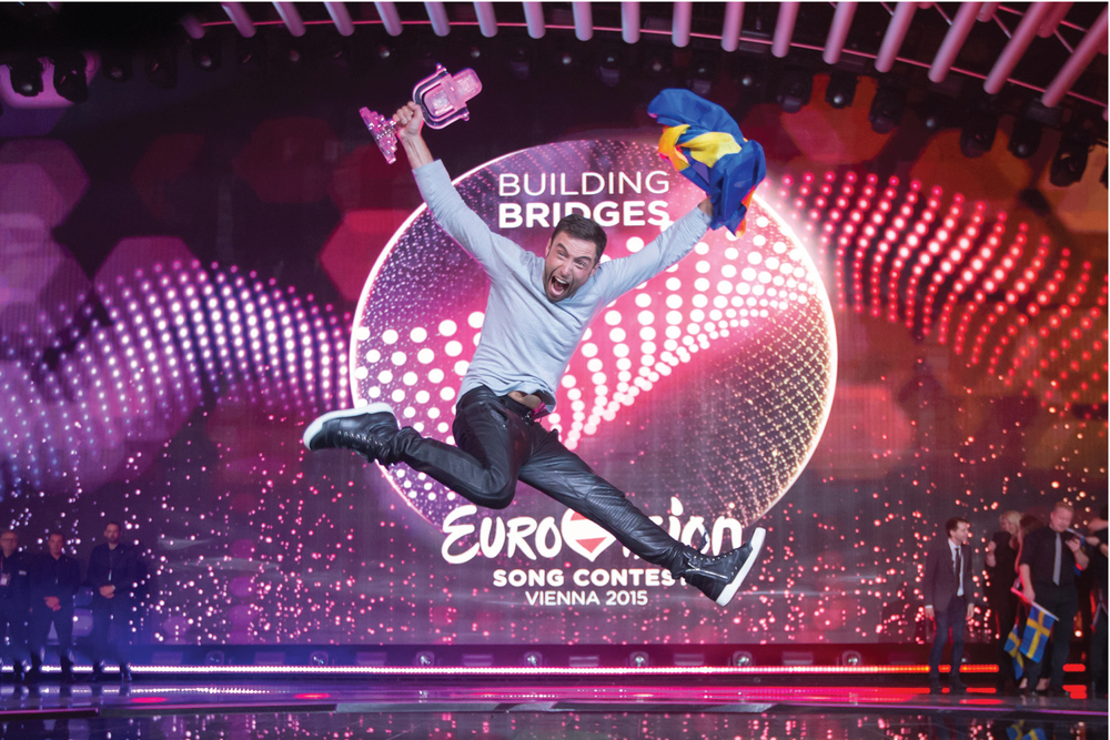 We created a modern, joyous and fun new identity for the Eurovision Song Contest