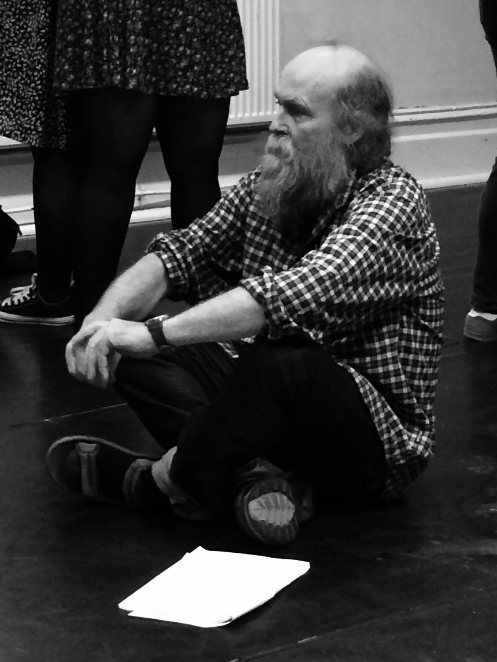 Actor Laurie plays George Brown, a new character for this year's version of the show. All the patients in the play are based on real people...we are not in the realm of fantasy.