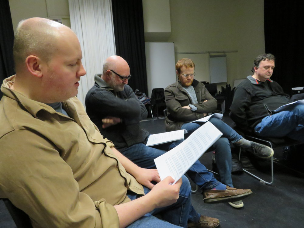 The first read-though of the 'first version' of the play