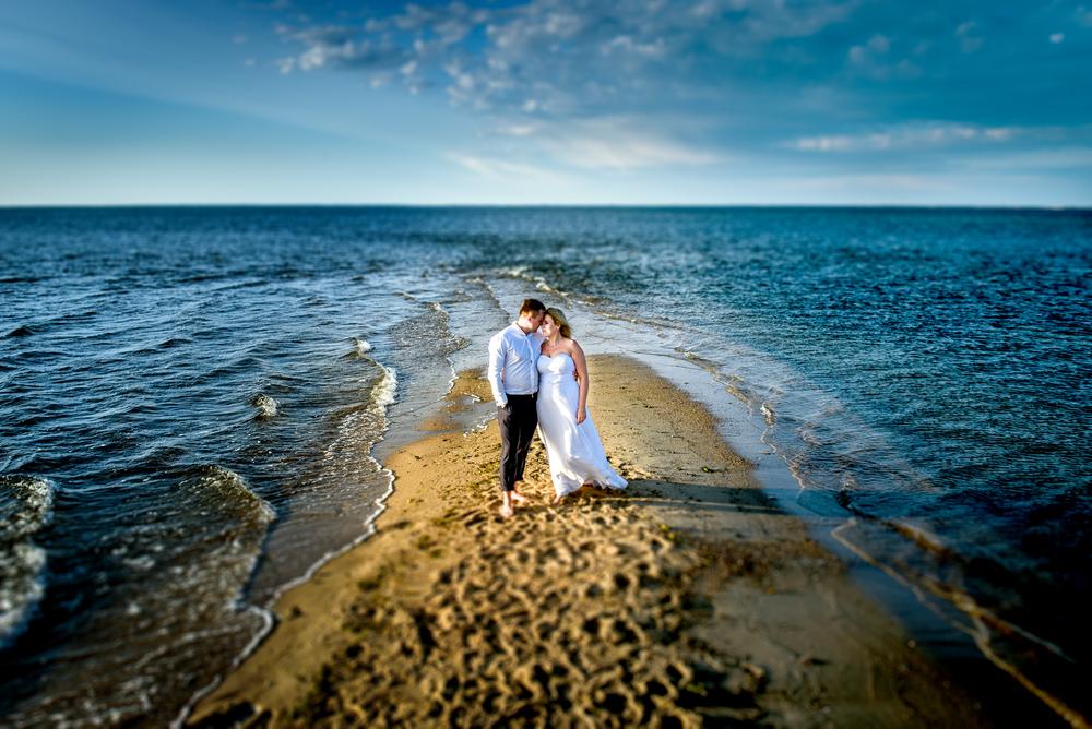 Plener ślubny na plaży w Gdyni