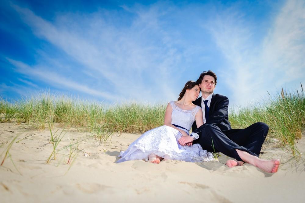 Plener ślubny na plaży w Sopocie