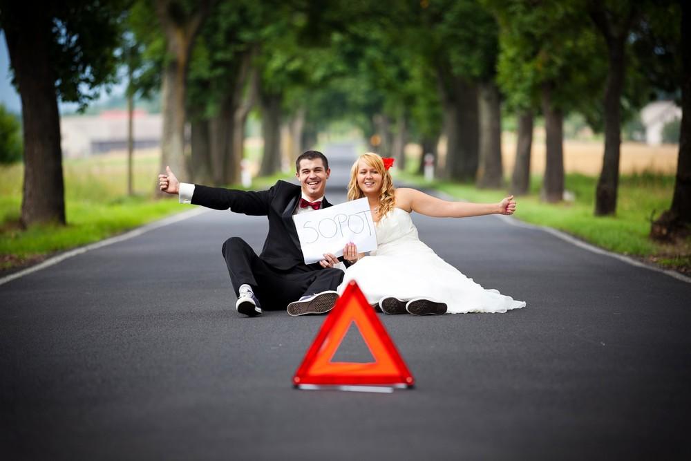 Sesja ślubna autostopowicze